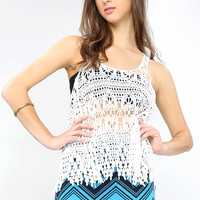 Y-Back Crochet Top