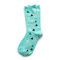 RICHER POORER BLUME SOCKS IN MINT