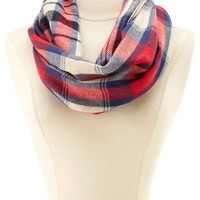 Plaid Infinity Scarf by Charlotte Russe - Multi