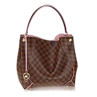 Louis Vuitton LV Damier Canvas Caïssa Hobo Handbag Rose Article:N41556 Made in France