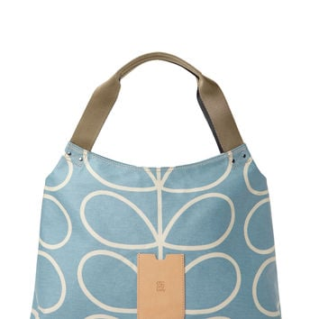 Orla Kiely Women's Classic Zip Shoulder Bag - Blue