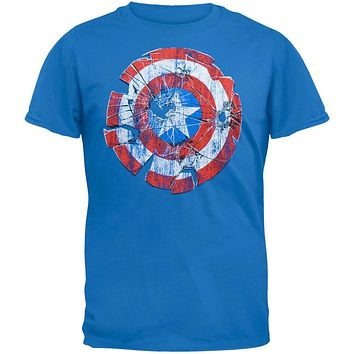 Captain America - Glass Shield Soft T-Shirt