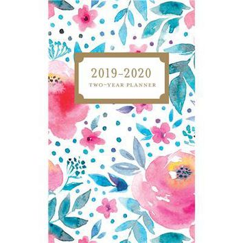 Happy Floral 2 Year Pocket Planner