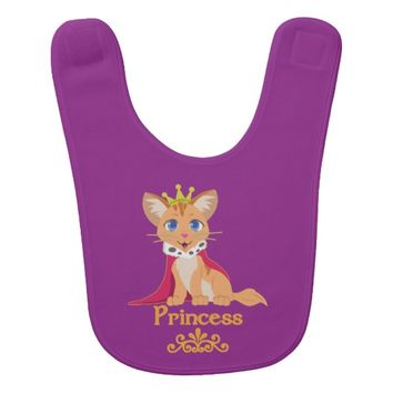 Princess Kitten Baby Bib