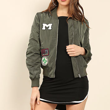 Air Force Patch Bomber Jacket