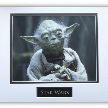 STAR WARS YODA MATTED LICENSED 8X10 PHOTO FOR FRAME 11X14 EMPIRE STRIKES BACK