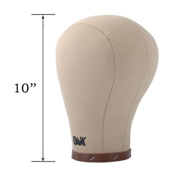 """GEX USA free shipping 21""""-24"""" Canvas block head weft/wig display style styling mannequin manikin head cork inside dryer 10"""" Tall"""