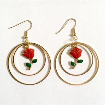 Double Rose Earrings