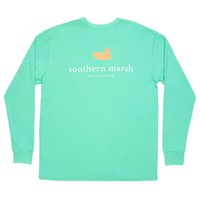 Authentic Long Sleeve Tee in Bimini Green by Southern Marsh