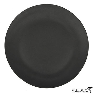 Black Porcelain Dinner Plate Set of 4