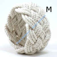 Wide Turks Head Sailor Knot Bracelet by MysticKnotwork on Etsy