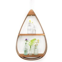 Wood Teardrop Shelf, 2 Shelves