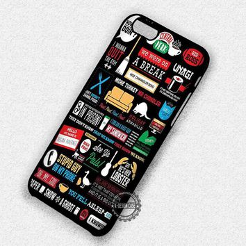 Black Collage Central Perk Friends - iPhone 7 6 5 SE Cases & Covers