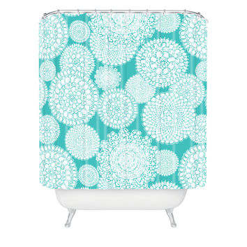 Heather Dutton Delightful Doilies Tiffany Shower Curtain