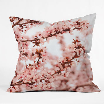 Lisa Argyropoulos Blissfully Pink Outdoor Throw Pillow