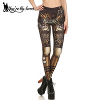 Fashion New Design Leggings Women Steampunk Star Wars Women Clothing Bottoms High Waist Mechanical Gear 3d Print Cosplay Autumn