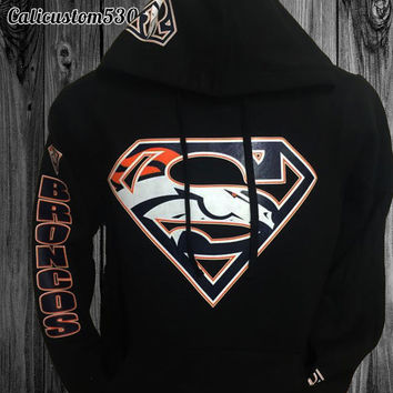 Broncos Superman Hoodie (MENS and WOMENS SIZES!)
