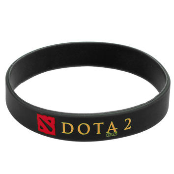 2016 Men Women Fashion Rubber Silicone Bracelet DOTA 2 Sport Band Wristband Turret Games Bangles Wristbands Adult Size 66