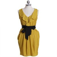 dreaming in color lace ruffle dress in mustard - $34.99 : ShopRuche.com, Vintage Inspired Clothing, Affordable Clothes, Eco friendly Fashion