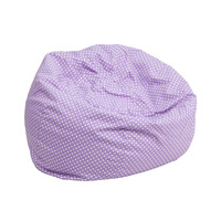 Small Lavender Dot Kids Bean Bag Chair DG-BEAN-SMALL-DOT-PUR-GG