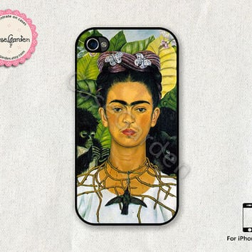 iPhone 4 Case, iPhone 4s Case, iPhone Case, iPhone Hard Case, iPhone 4 Cover, iPhone 4s Cover, Frida Kahlo