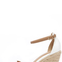 Charm School Ice White Espadrille Wedge Sandals
