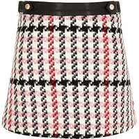 Girls pink print A-line skirt