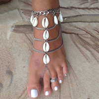 Vintage Multilayer Beach Barefoot Sandals