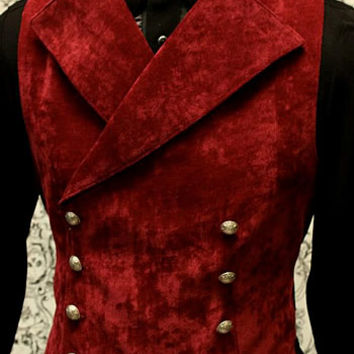Mens Cavalier Vest  by Shrine Clothing Gothic Dresses