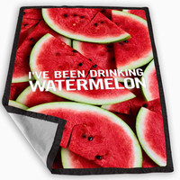 Beyonce I ve Been Drinking Watermelon Blanket for Kids Blanket, Fleece Blanket Cute and Awesome Blanket for your bedding, Blanket fleece *
