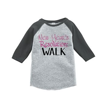 Custom Party Shop Kids New Years Resolution Raglan Shirt