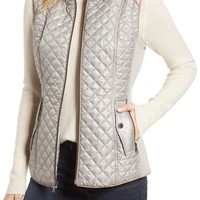 Gallery Quilted & Knit Vest (Regular & Petite) | Nordstrom