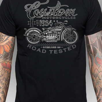 Indian Motorcycle T-Shirt, Vintage 3D Style, /imprinted T-Shirt not a Transfer