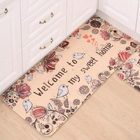 Doormat Balcony Door Mats Non-Slip Area Rug Printed Welcome Floor Mats for Kitchen Carpets Home Living Room Tapete Para Quarto