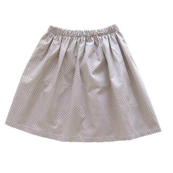 Polka Dot Girl Skirt - Girls Clothing - Toddler Girls Skirt - Beige Skirt - Free Shipping