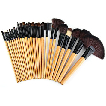 Makeup Brushes Set with Synthetic Leather Pouch Bag