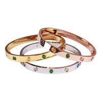 Cartier Women Men Fashion classic bracelet multi-color diamond bracelet high quality
