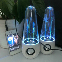 1 Pair LED Dancing Water Music Fountain Light Speakers for PC Laptop for iPhone for iPad4 for iPod Alternative Measures