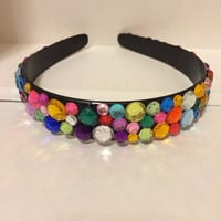 Colorful Rhinestone Headband