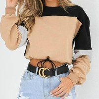 Jillian Crop Top Drawstring Sweatshirt