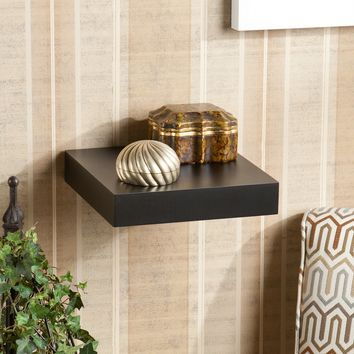 Fancy Styled Chicago Floating Shelf Black-Southern Enterprises