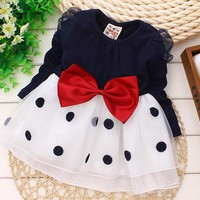 2016 New Baby girls dress,baby clothing,summer,newborn,baby girl princess dress,dressed infantis,long sleeve 6-24M kids clothes