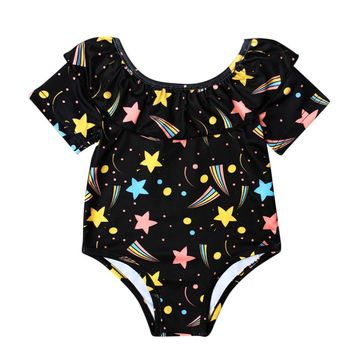 bikini 2017 swimsuit swimwear Toddler Kids swimwear One Piece bathing suit swimsuits Baby Girls Printing Beach wear Bikini Apr18