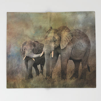 Mother And Child Throw Blanket by Theresa Campbell D'August Art
