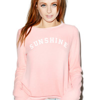 Wildfox Couture Sunshine and Wine Baggy Beach Jumper Peony