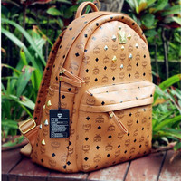 MCM leather backpack by Trademarkz on Etsy