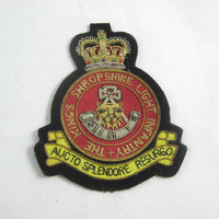 The King's Shropshire Light Infantry Brigade Blazer Badge , Vintage British Blazer Patch