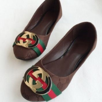 '' Gucci '' Women Fashion Flat shoes