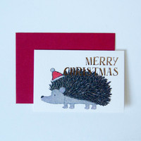 Mini Christmas Card Yonezu Hedgehog - Default