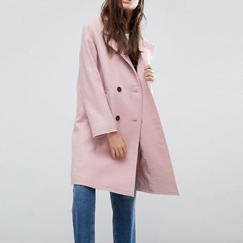 ASOS Coat with Raw Edges at asos.com